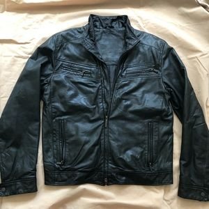 💯 Authentic Man Lagerfeld leather jacket